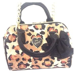 Betsey Johnson Animal Print Mini Hand Bag Purse
